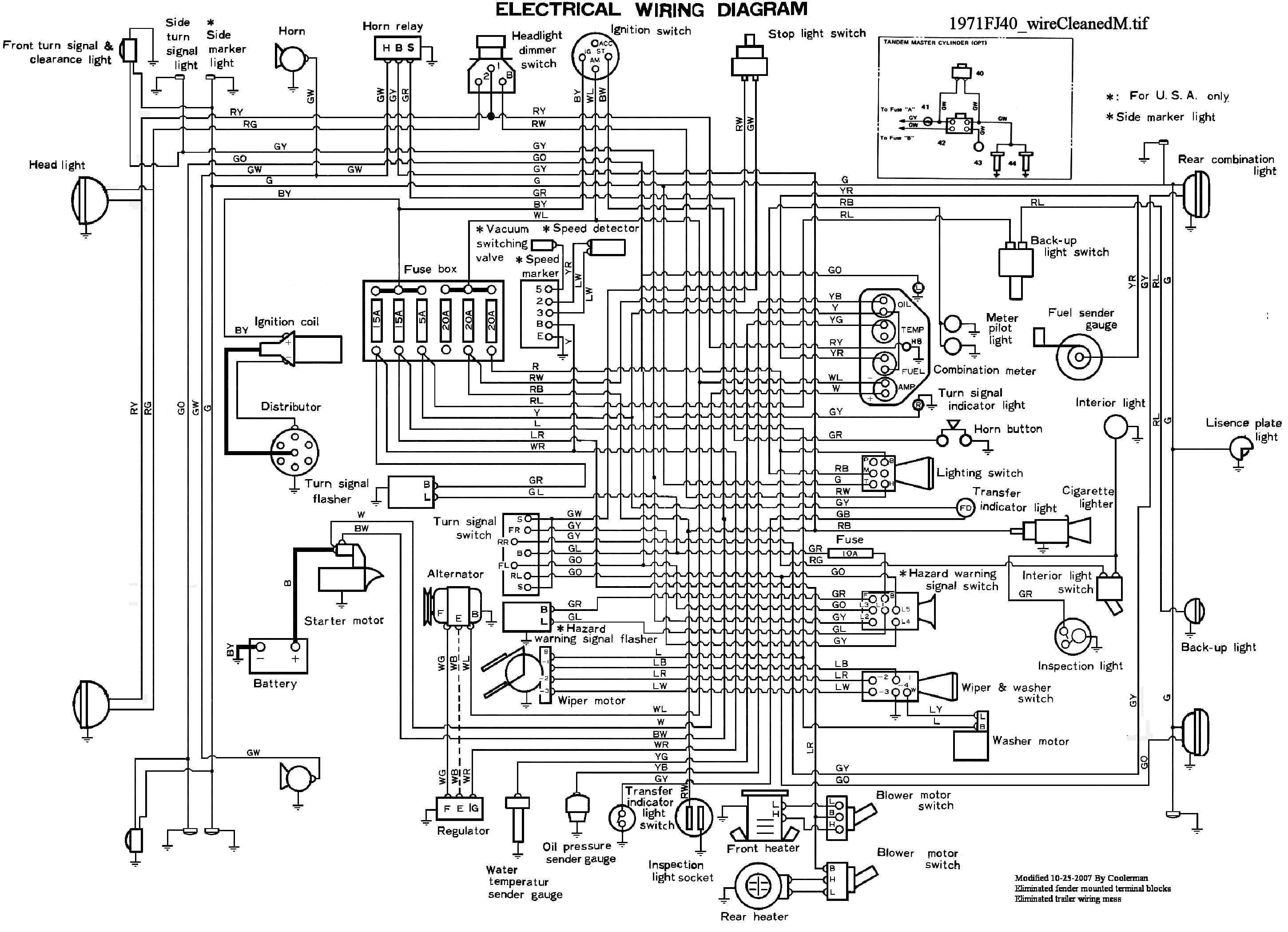 1971 Fj40 Wiring Diagram List Of Schematic Circuit Cadillac Headlights Cruiser Rh Globalsoftware Inc Com Toyota Land