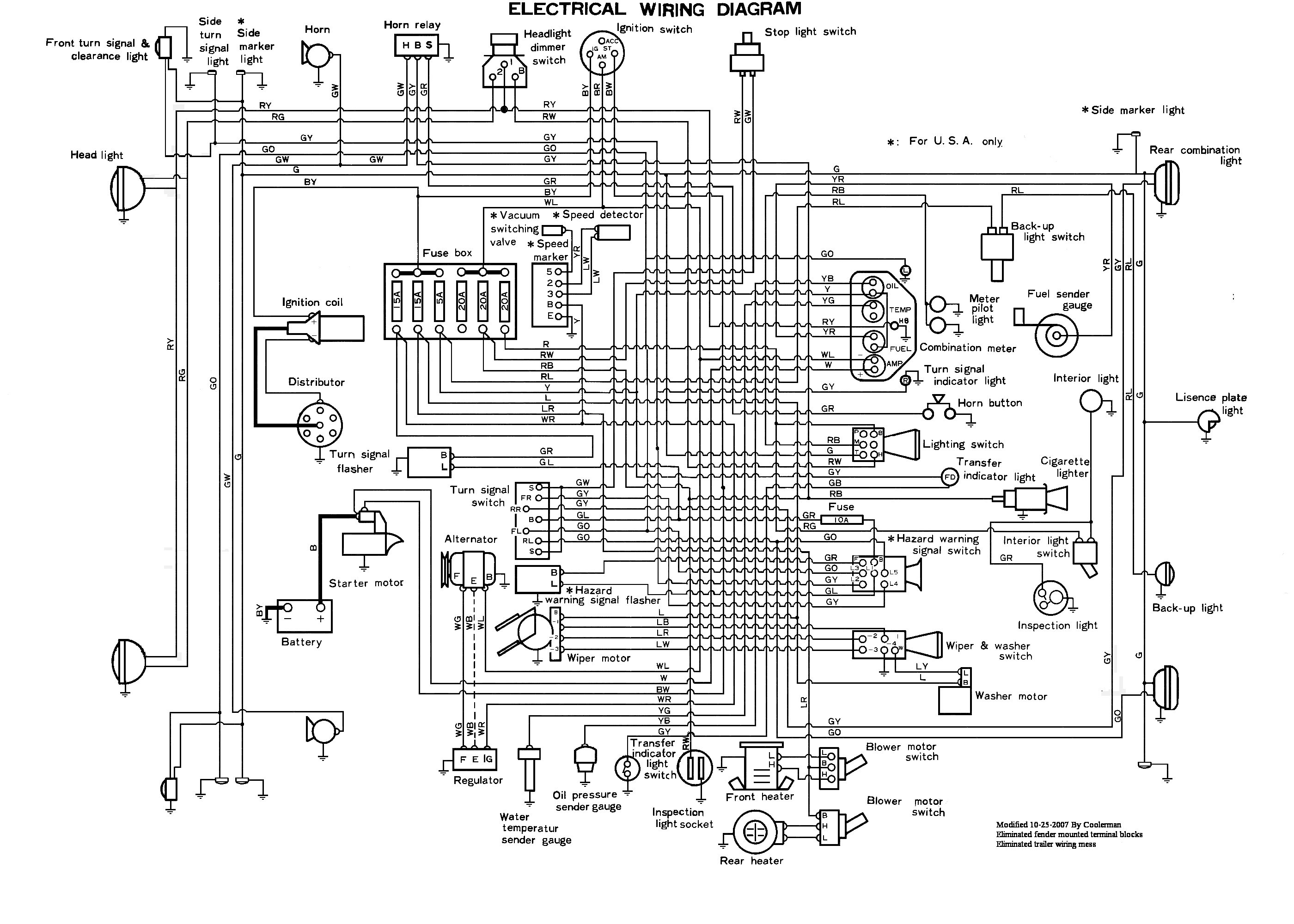 Cruiser Wiring Harness Diagram Fuse Box Pt 1971 Toyota Land Diagrams U2022 Rh Tinyforge Co 2006 Fj Installation