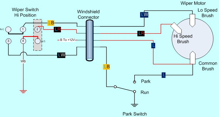 wiper wiring science, Wiring diagram