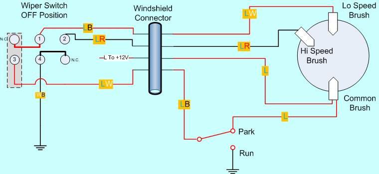 windshield wiper schematic all wiring diagram Pontiac G6 Windshield Wiper Schematics