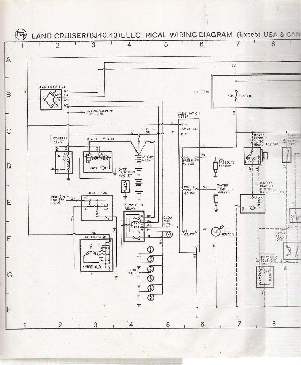 electrical schematic for 78 bj40 lhd ih8mud forum. Black Bedroom Furniture Sets. Home Design Ideas