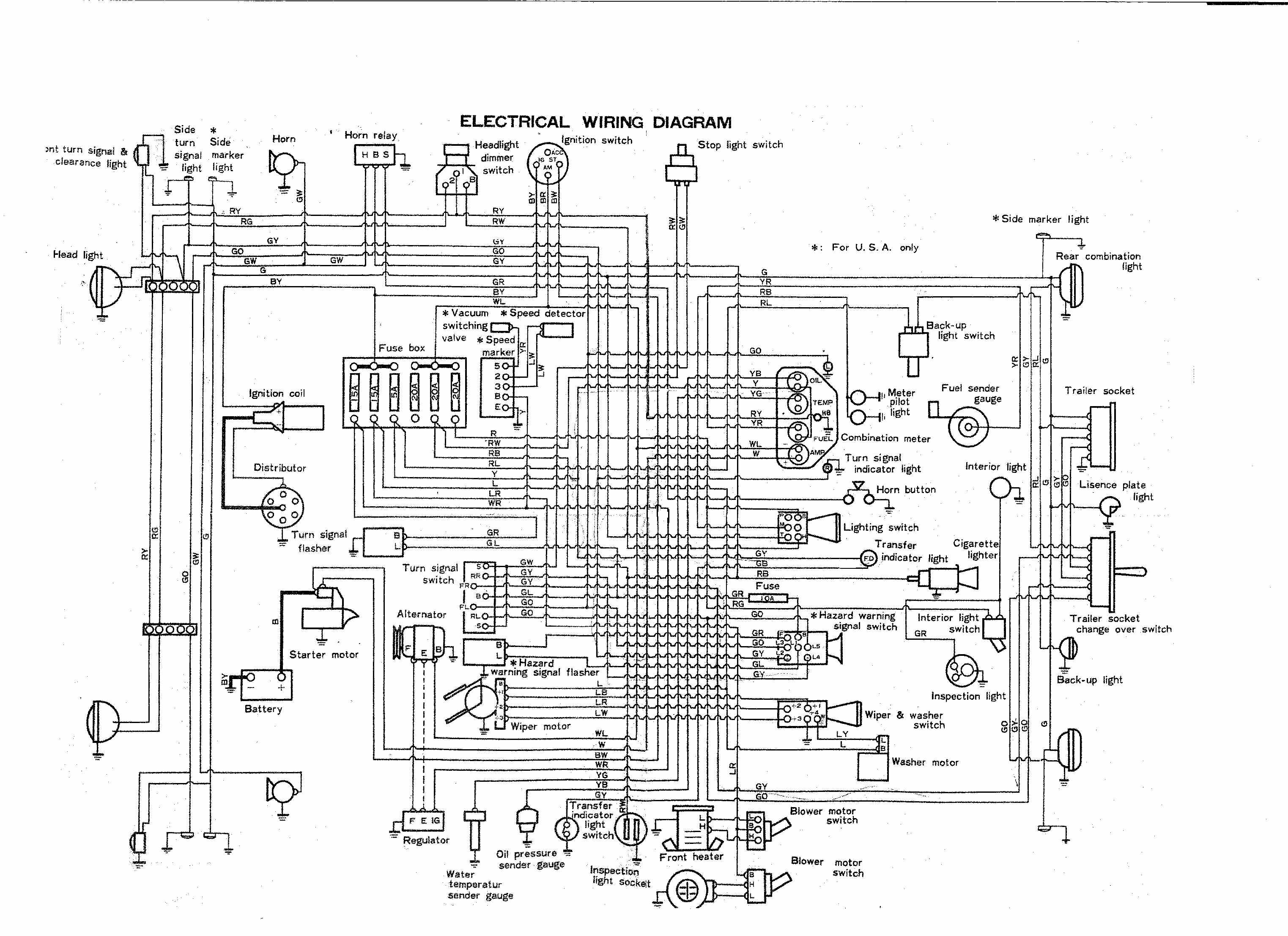 Repairmanuals Toyota Hilux 1975 Wiring Diagrams