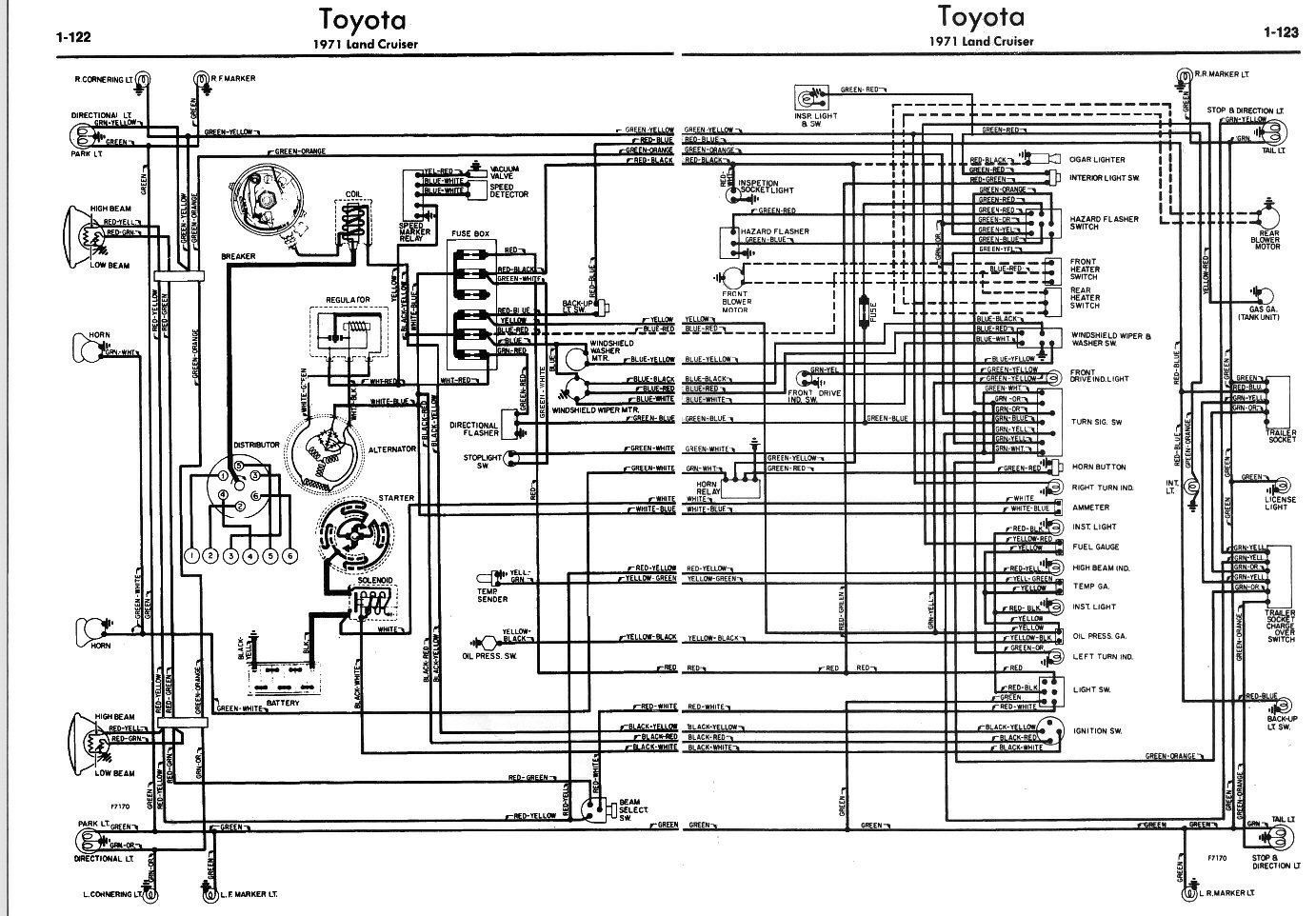 coolerman s electrical schematic and fsm file retrieval rh globalsoftware inc com toyota land cruiser wiring loom 1970 toyota fj40 wiring harness