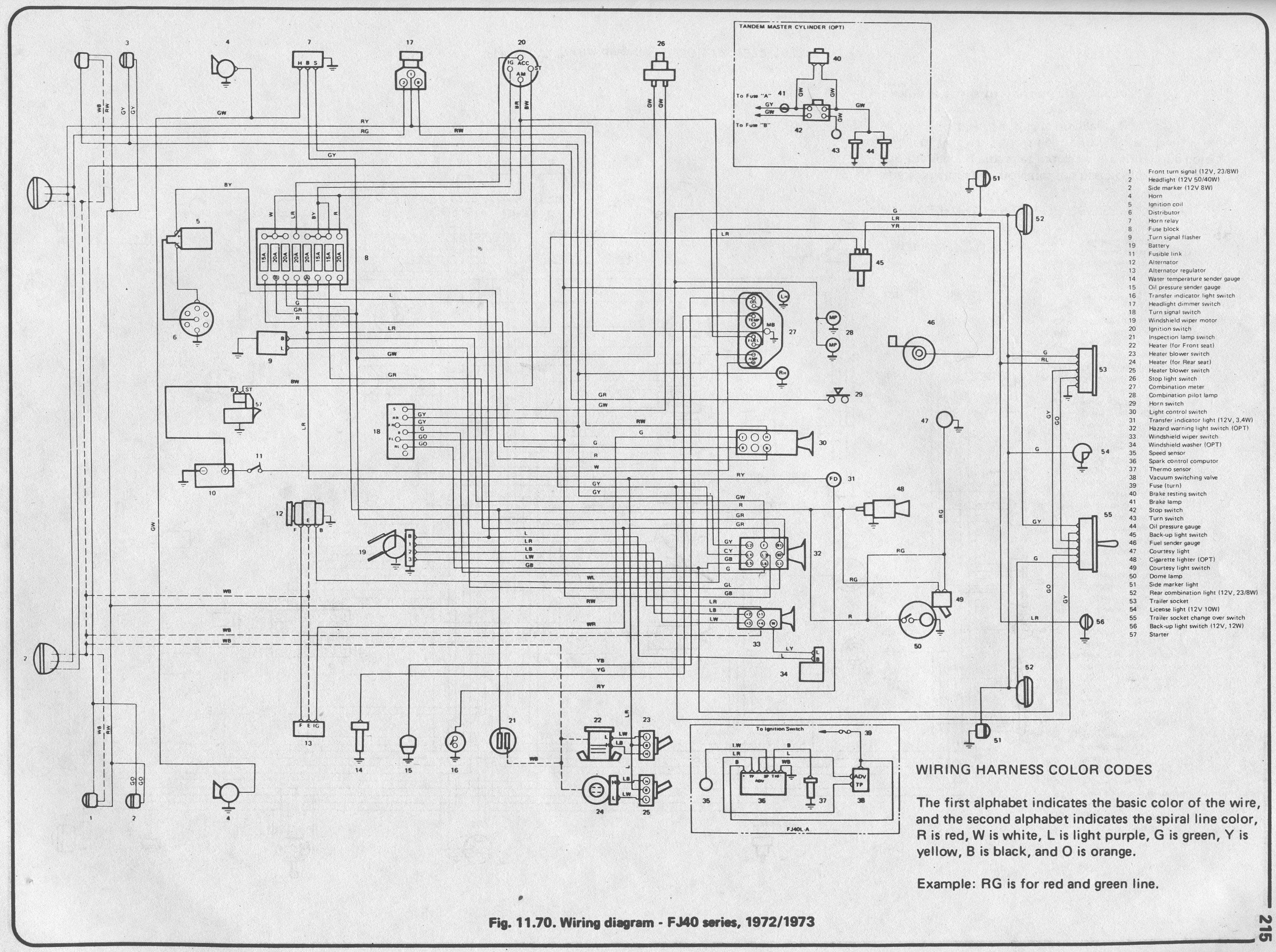Haynes1973FJ40 coolerman's electrical schematic and fsm file retrieval 72 fj40 wiring diagram at creativeand.co