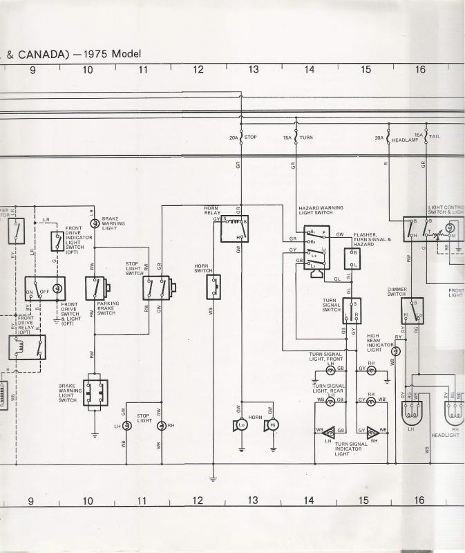 Image 19 coolerman's electrical schematic and fsm file retrieval FJ40 Wiring Harness at mifinder.co